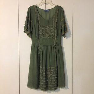 Anthropologie Lil Ruffled Dress